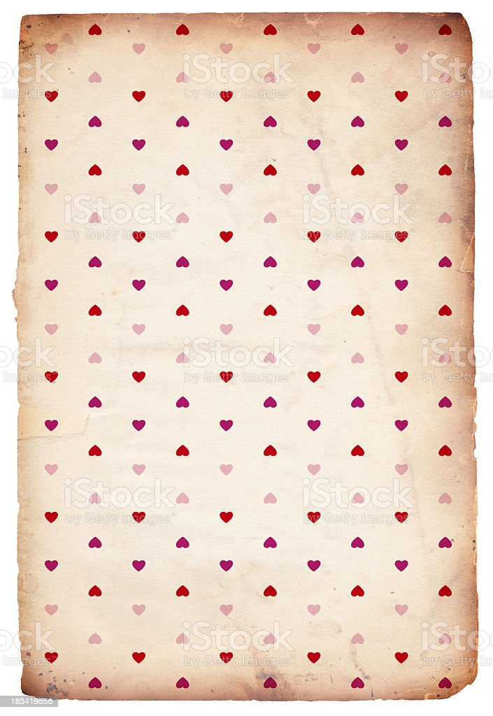 Valentine Heart Paper Background - XXXL royalty-free stock photo