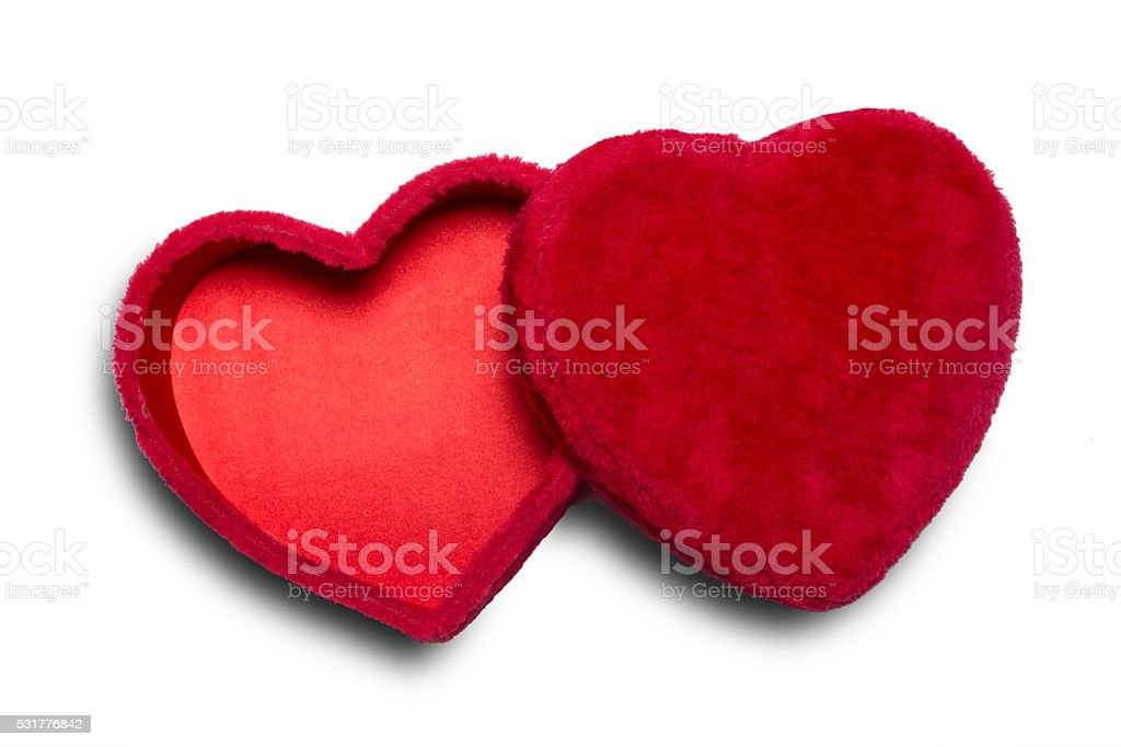 Valentine Heart Shaped Candy Box stock photo