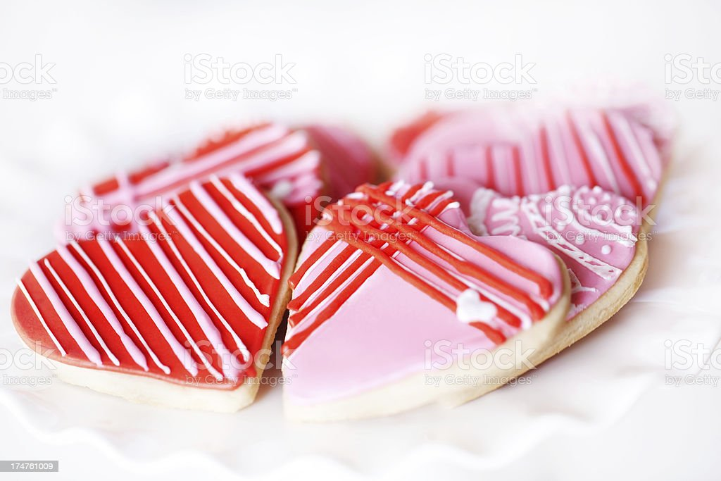 Valentine Heart Shaped Cookies royalty-free stock photo