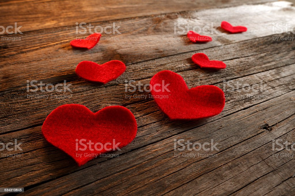 Valentine hearts - Stock Image stock photo