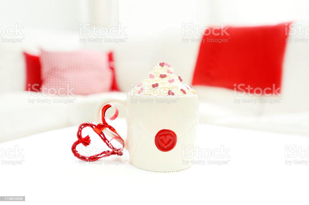 Valentine hot chocolate royalty-free stock photo