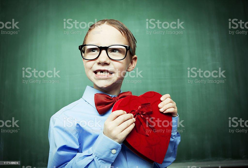 Valentine Nerd royalty-free stock photo