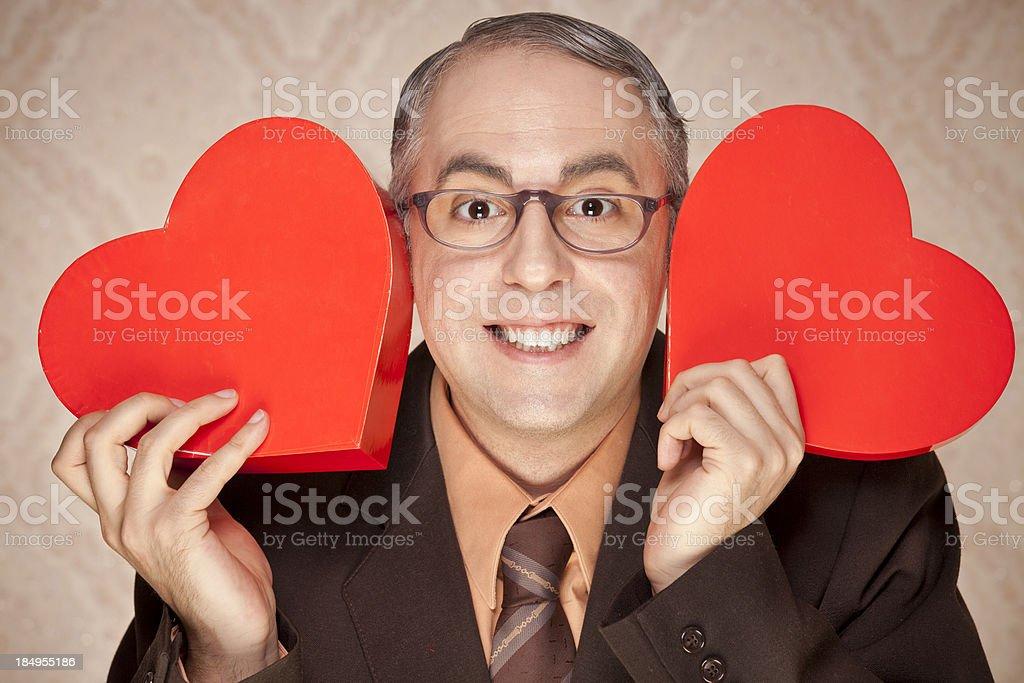 Valentine nerd stock photo
