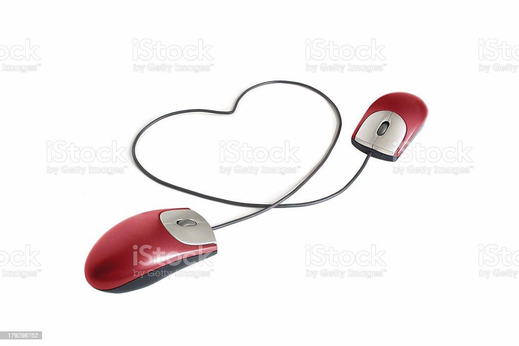 Valentine on-line stock photo