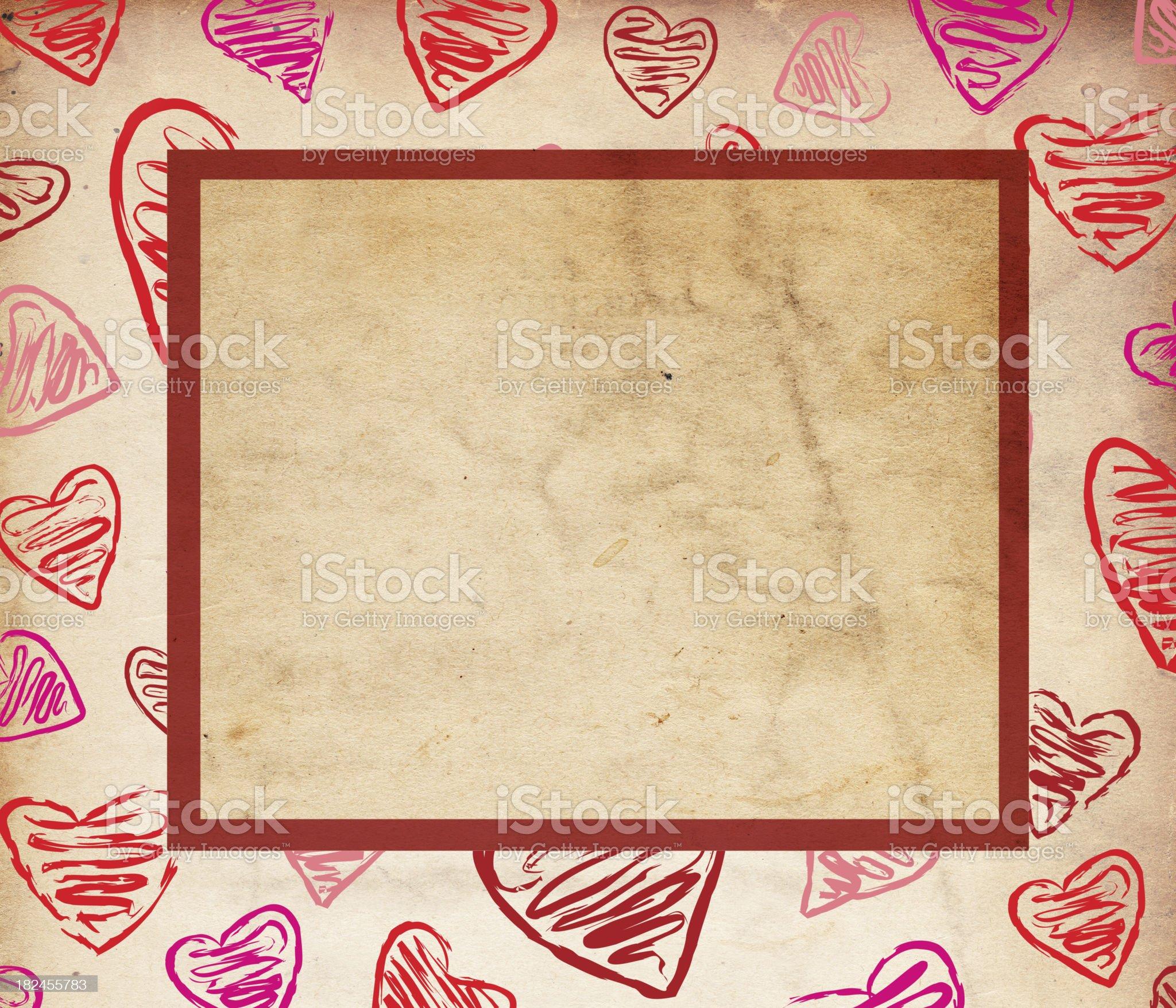 Valentine Paper Grunge - XXXL royalty-free stock photo