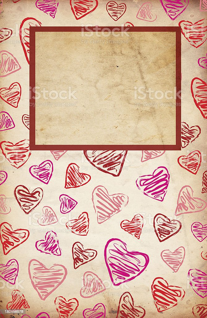 Valentine Paper Grunge - XXXL stock photo