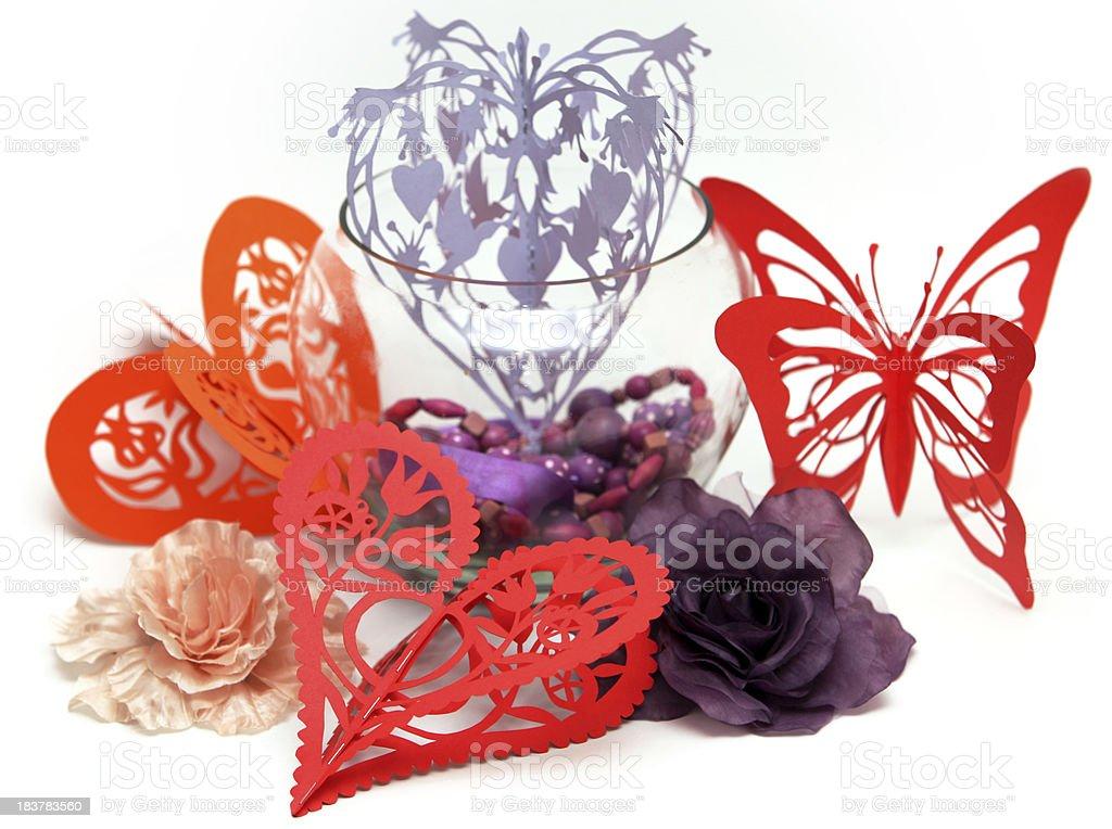 Valentine Paper hearts royalty-free stock photo