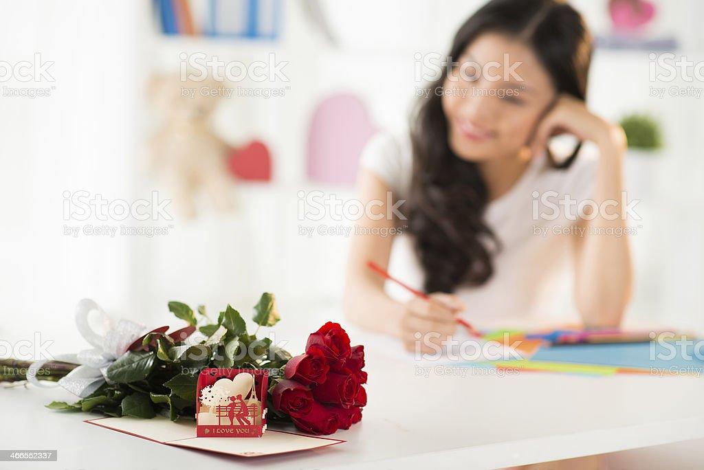 Valentine presents royalty-free stock photo