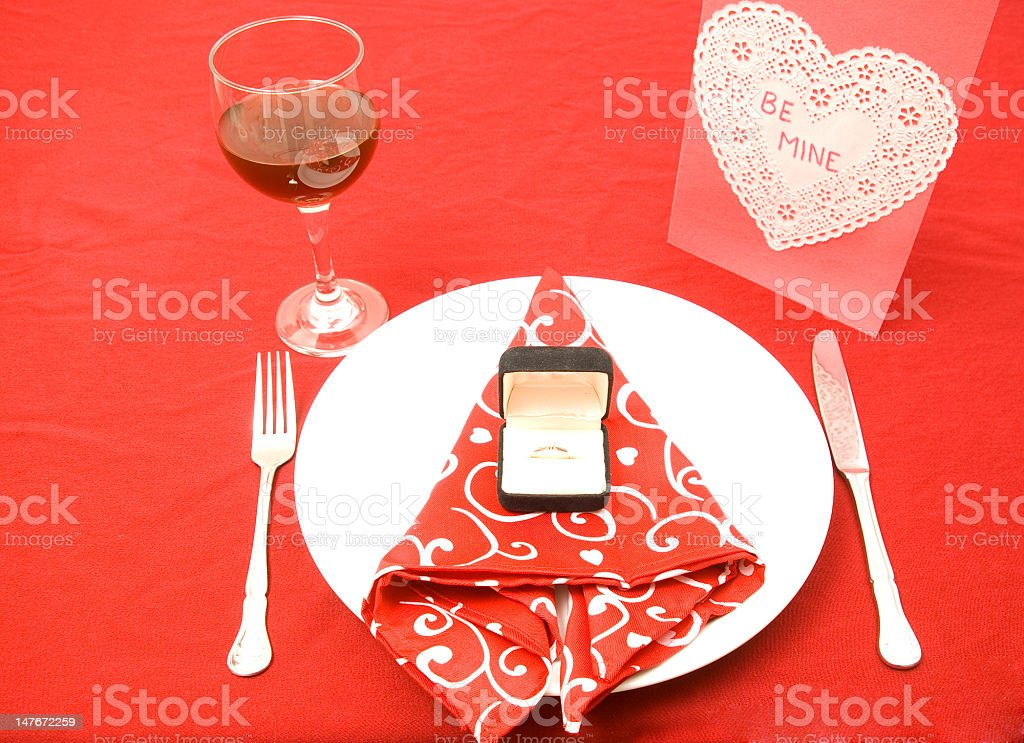 valentine proposal royalty-free stock photo
