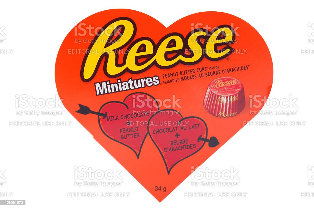 Valentine Reese's miniatures peanut butter cups stock photo