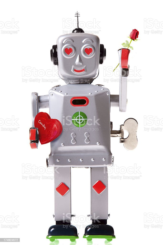 Valentine Robot royalty-free stock photo