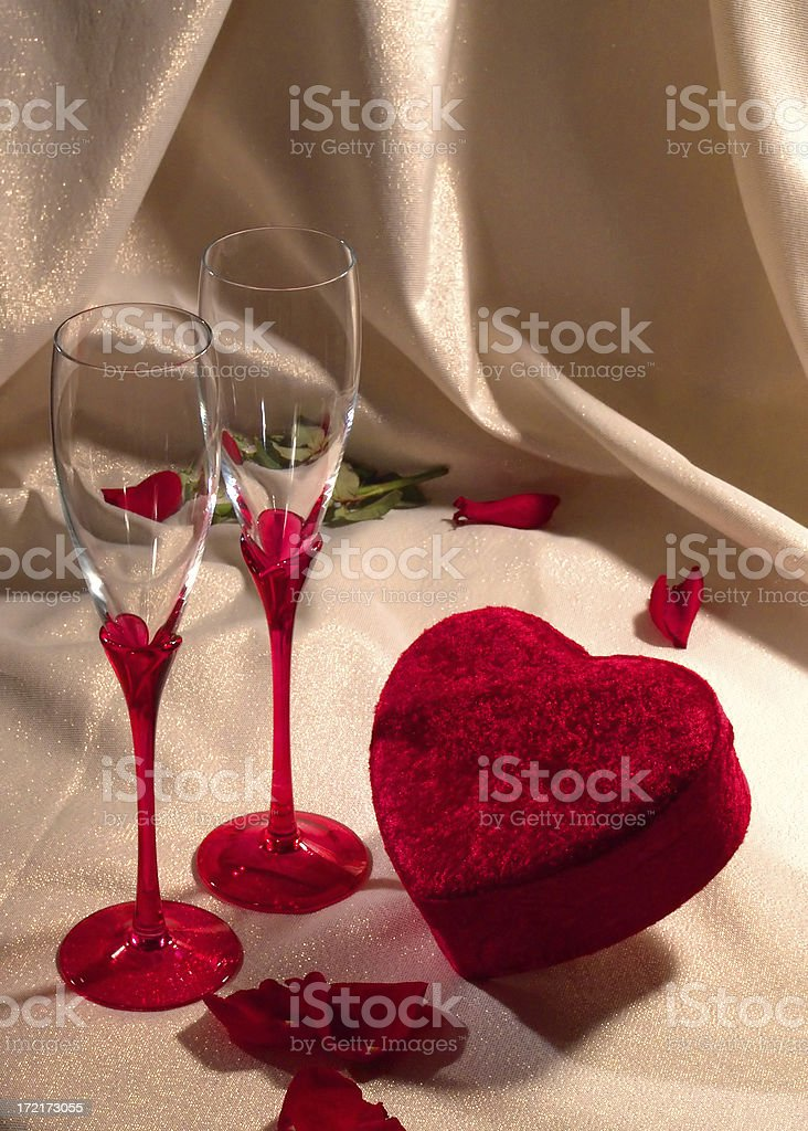 Valentine Setting for Two royalty-free stock photo