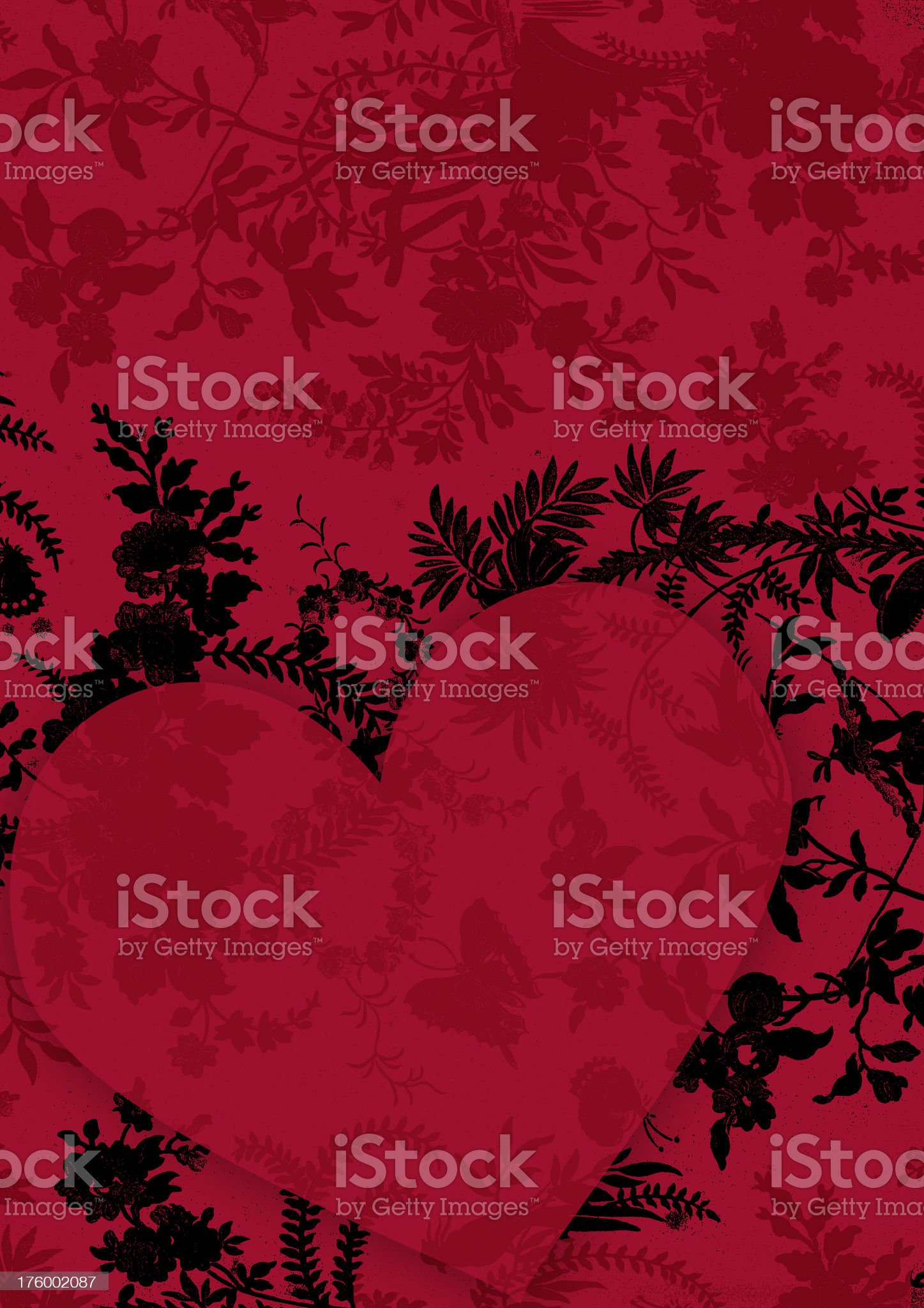 Valentine velvet heart royalty-free stock photo