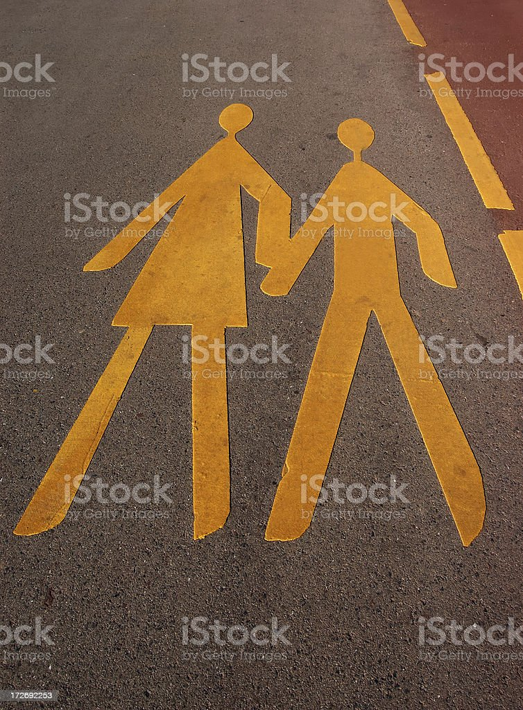 valentine walk royalty-free stock photo