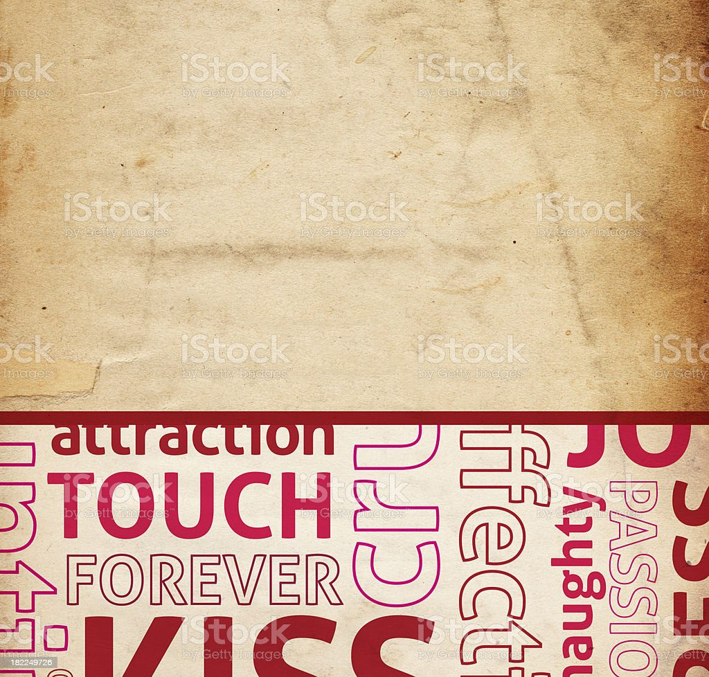 Valentine Word Paper royalty-free stock photo