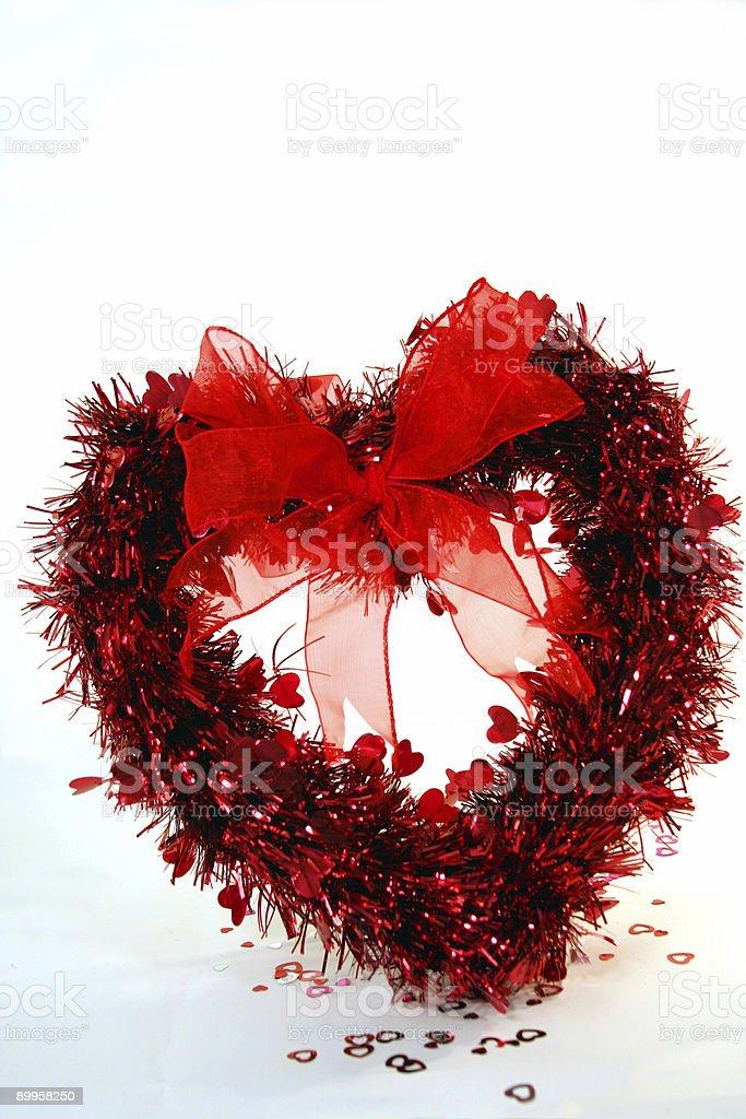 Valentine Wreath 1 royalty-free stock photo