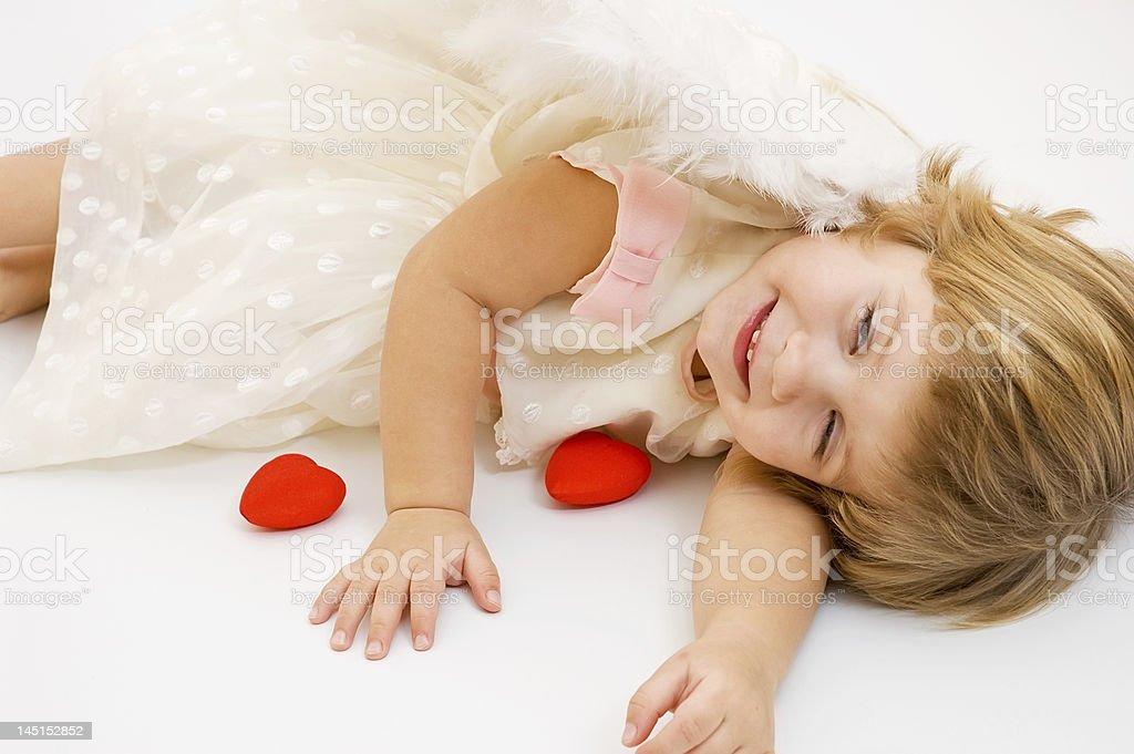 valentine's angel girl royalty-free stock photo