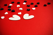 Valentines background with white hearts