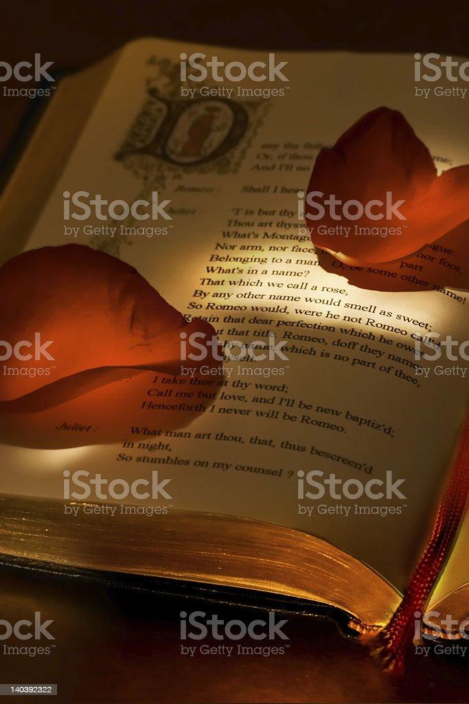 Valentine's book stock photo