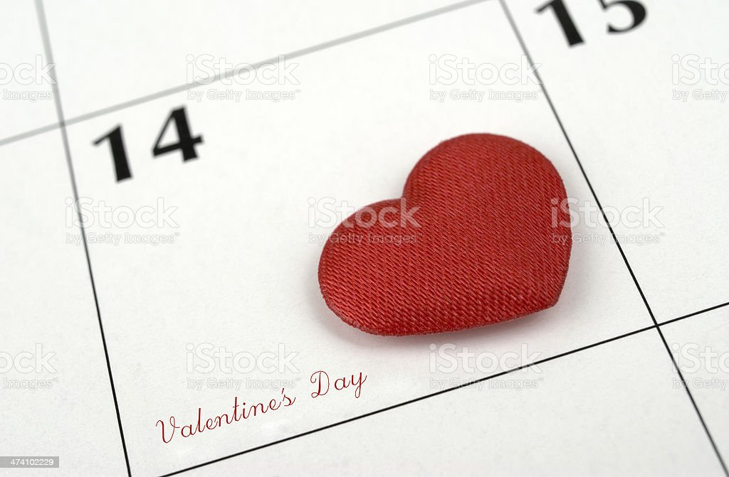 Valentine's calendar stock photo