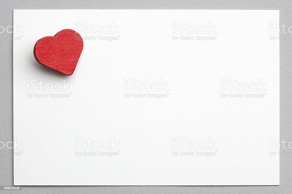 valentine's card royalty-free stock photo