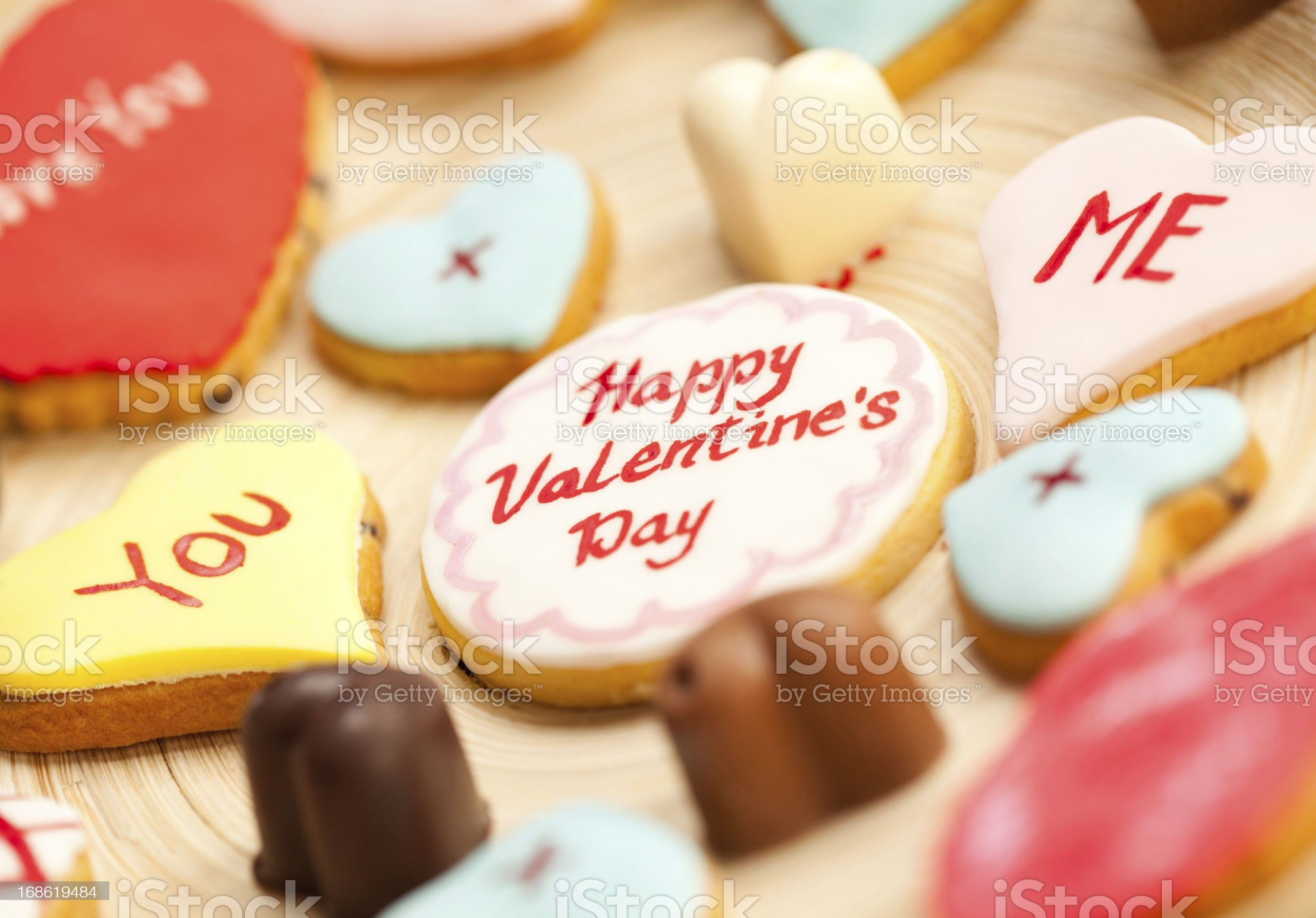 Valentine's Cookies royalty-free stock photo
