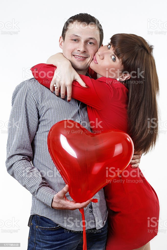 Valentine's Couple in love royalty-free stock photo