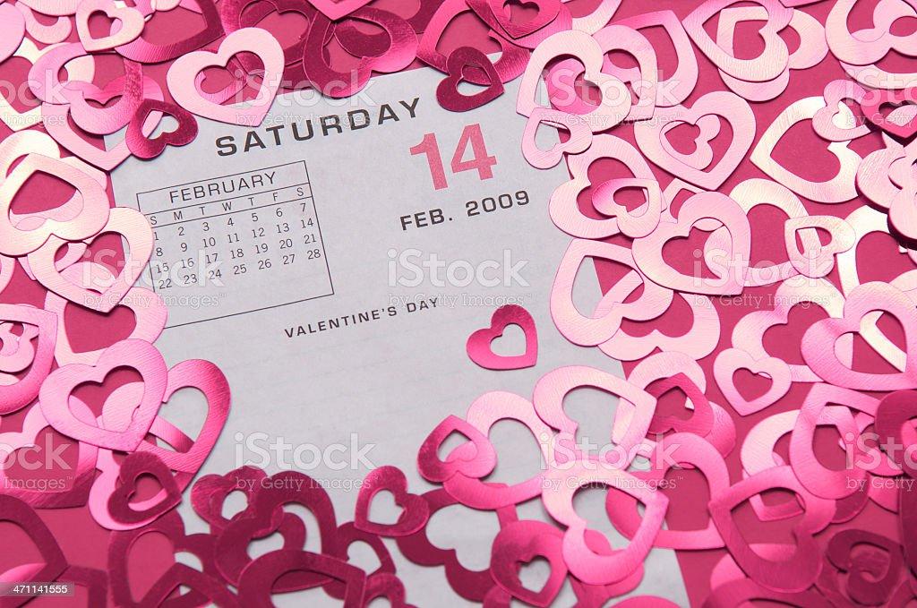 Valentine's Day 09 w Pink Hearts stock photo