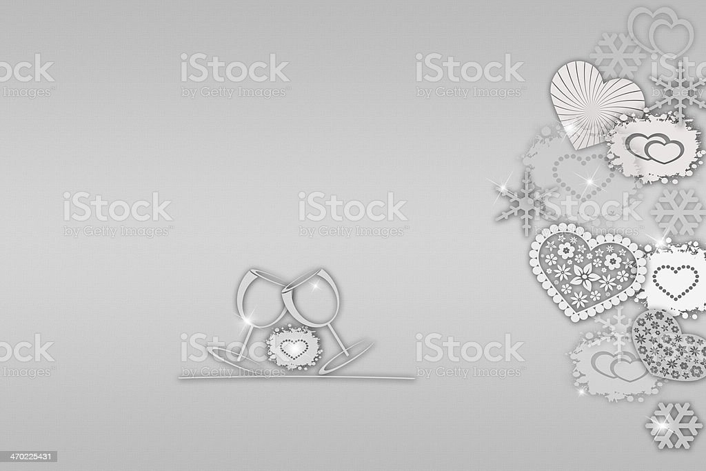 Valentine's day and  new years abstract background stock photo