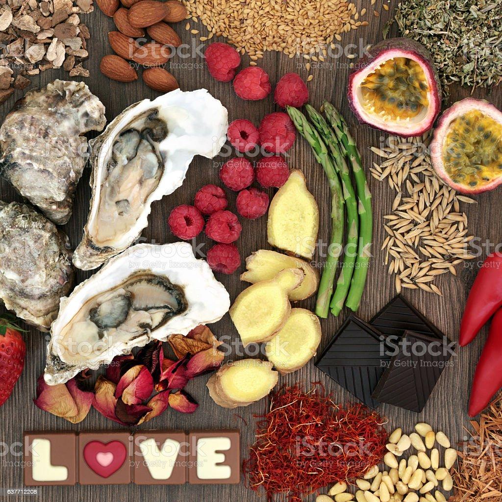 Valentines Day Aphrodisiac Food stock photo