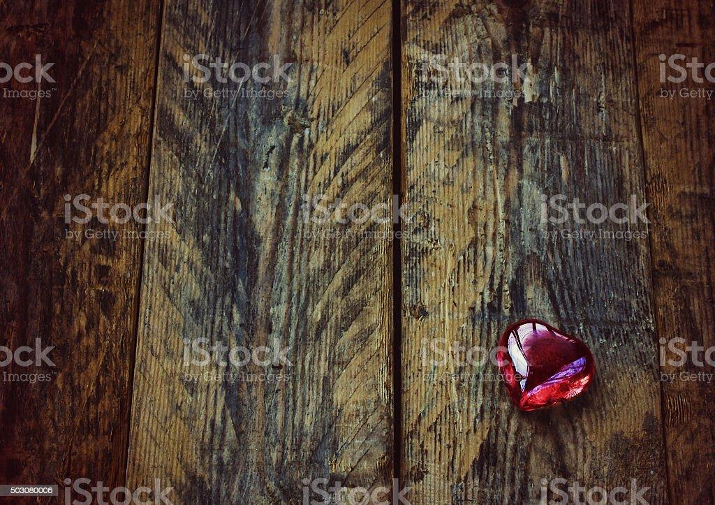Valentine's day background, glass heart stock photo
