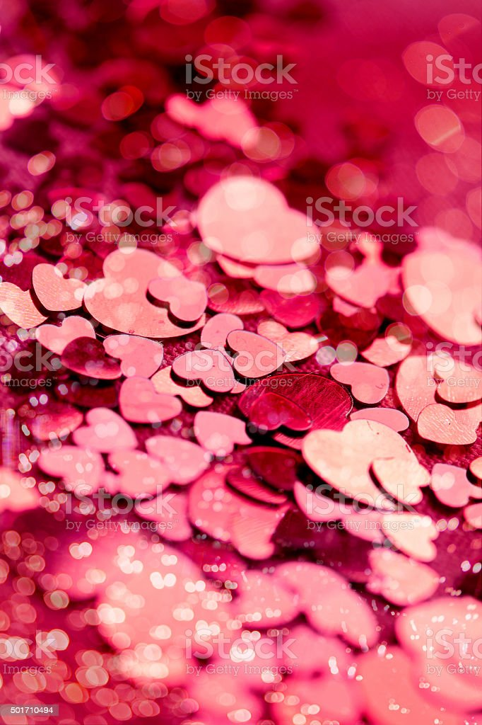 Valentine's Day, background of hearts stock photo