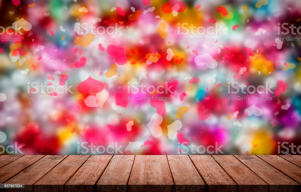 Valentines day background with  colorful Hearts shape stock photo