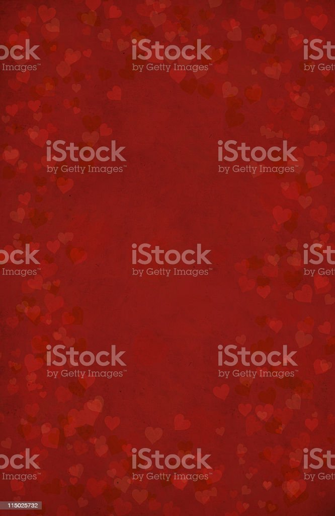 Valentine's Day background with heart shapes stock photo
