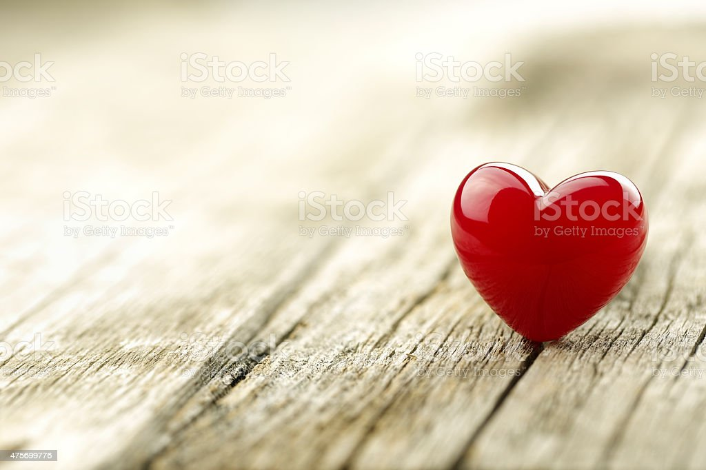 Valentines Day background with Red heart stock photo