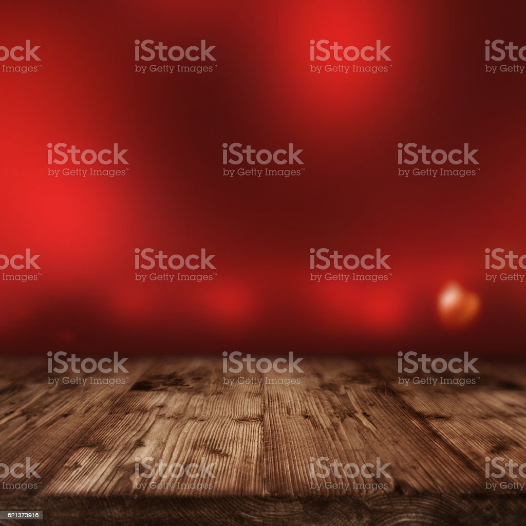 Valentines day background with red lights stock photo