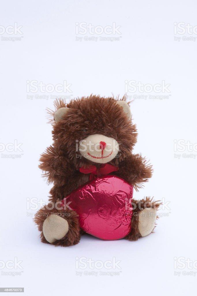 Valentines Day Bear stock photo