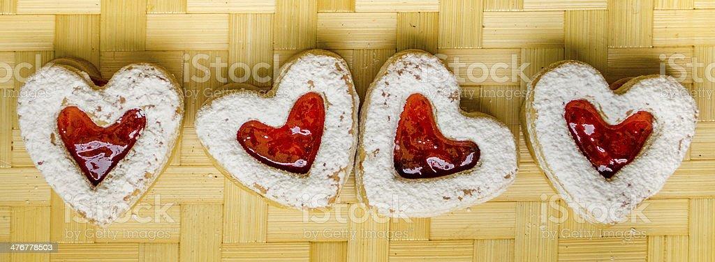 Valentine's day biscuits stock photo