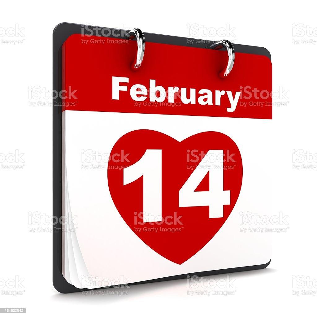 Valentine's Day Calendar royalty-free stock photo