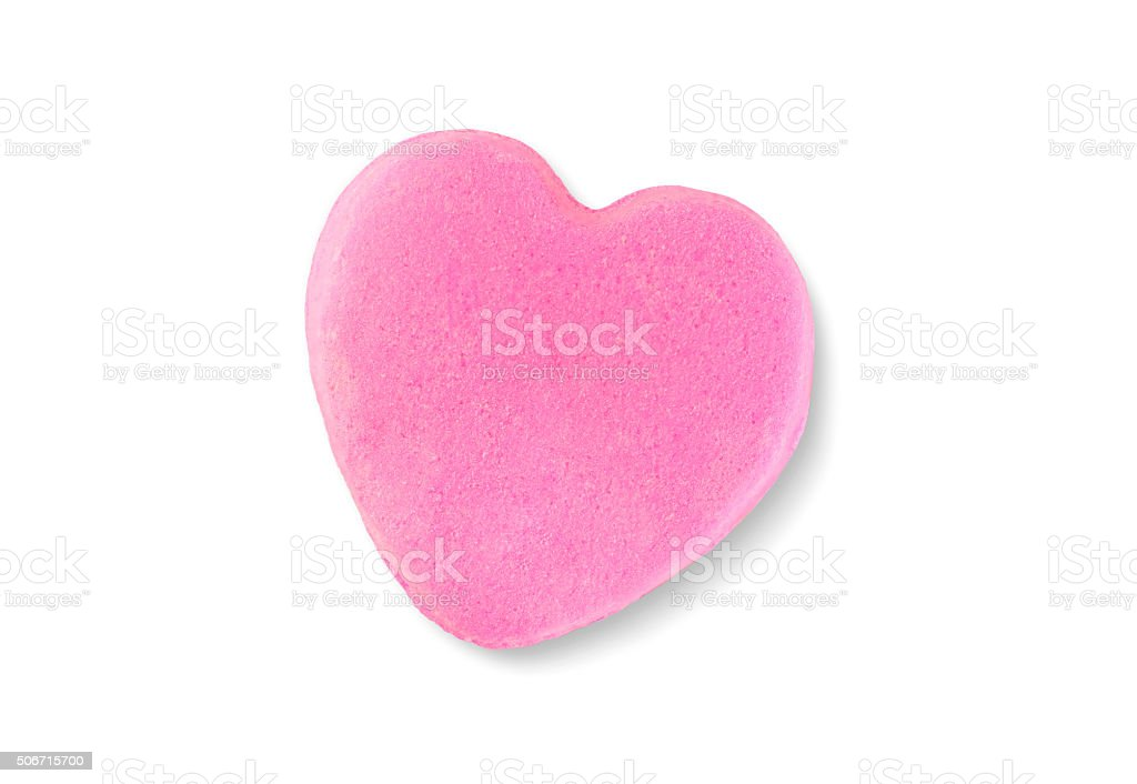 Valentine's Day Candy Heart Isolated on White Background stock photo