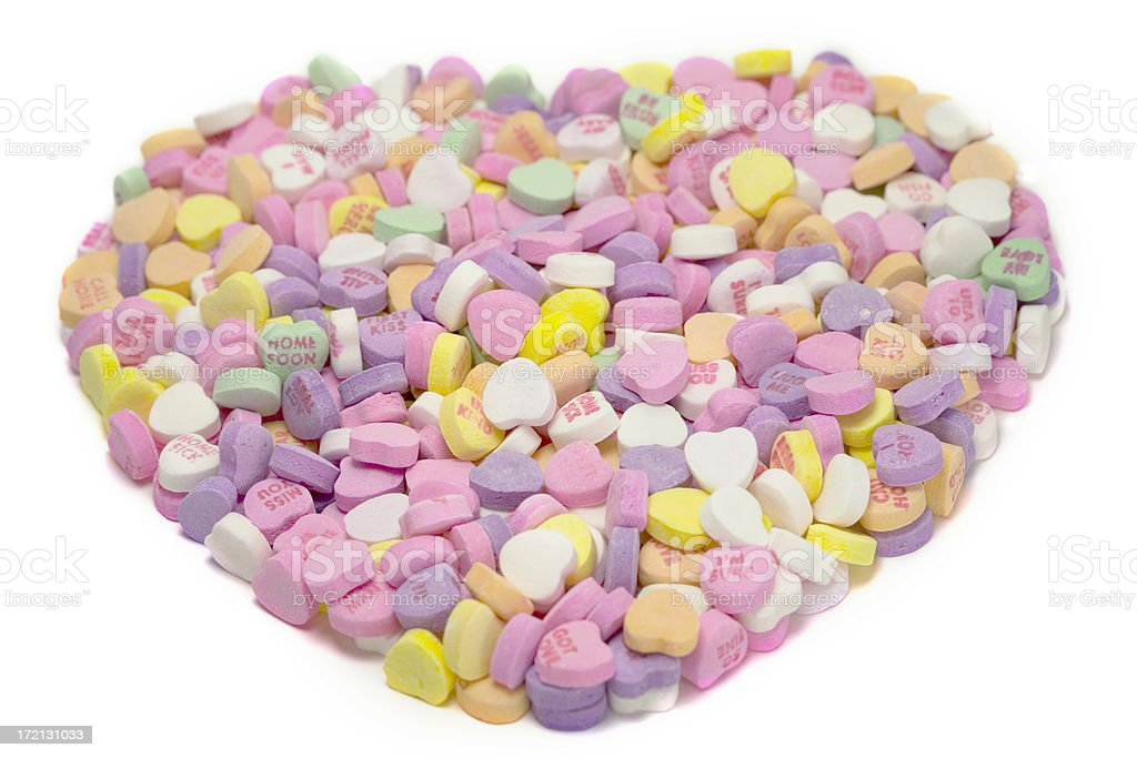 Valentine's Day Candy Hearts royalty-free stock photo