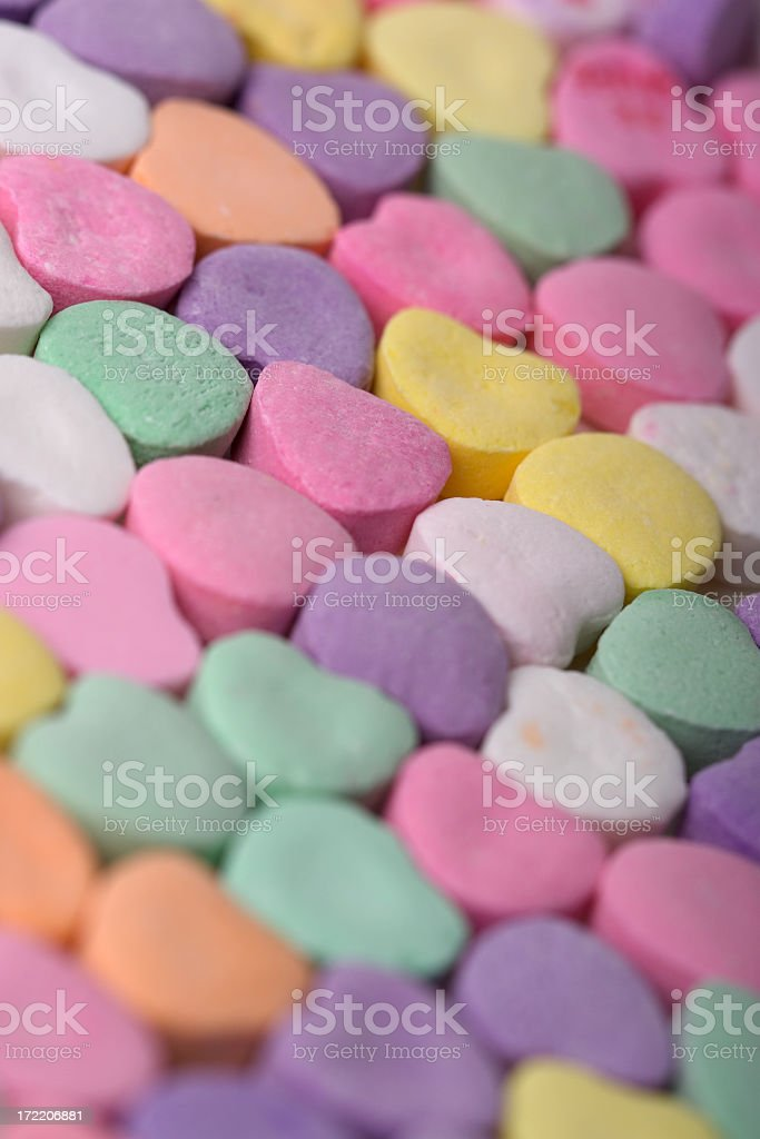 Valentines Day Candy Hearts VI stock photo