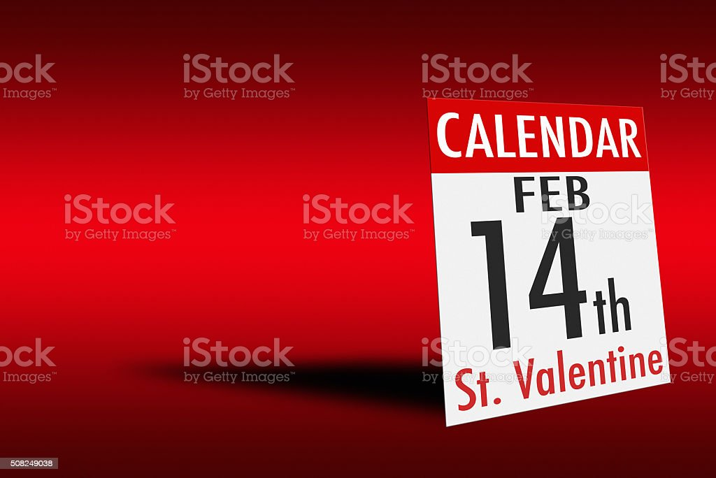 Valentines day card on red background stock photo