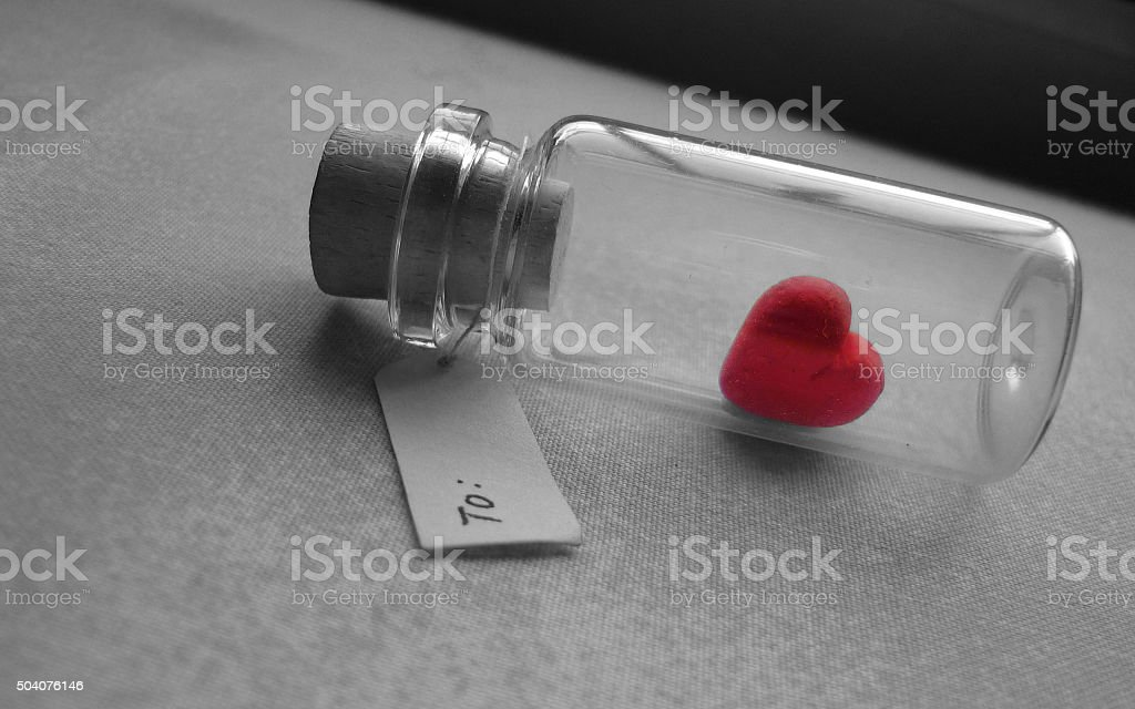Valentine's Day card stock photo