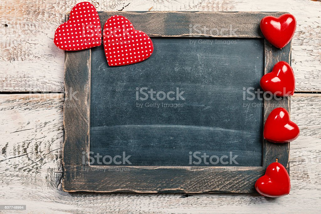 Valentine's Day Chalkboard stock photo