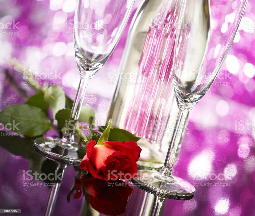 Valentines Day Champagne royalty-free stock photo