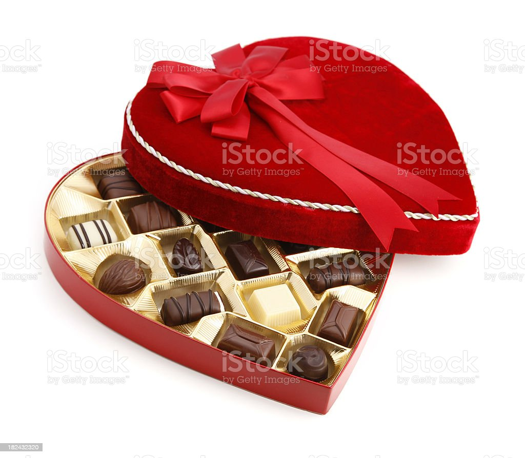 Valentine's Day Chocolate Candy stock photo