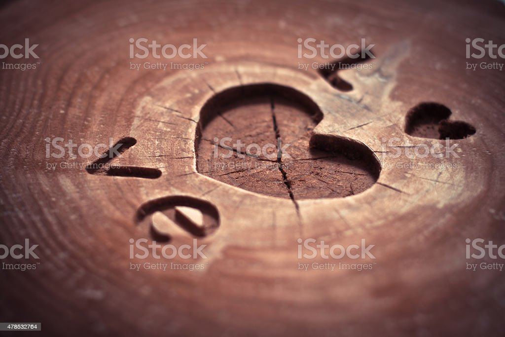 Valentine's Day Concept background. carving stock photo