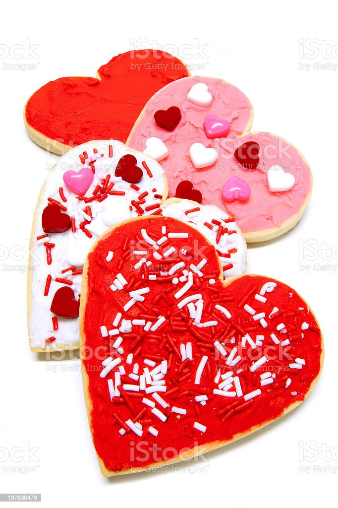 Valentines Day cookies stock photo