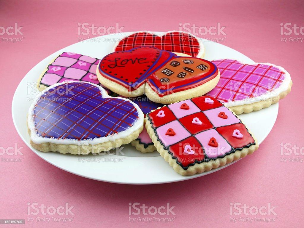 Valentine's Day Cookies stock photo
